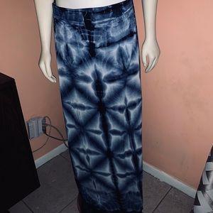 Lapis | Dye Maxi Skirt